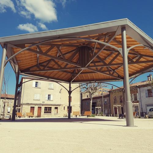 Kiosque aluminium et bois - Ardèche