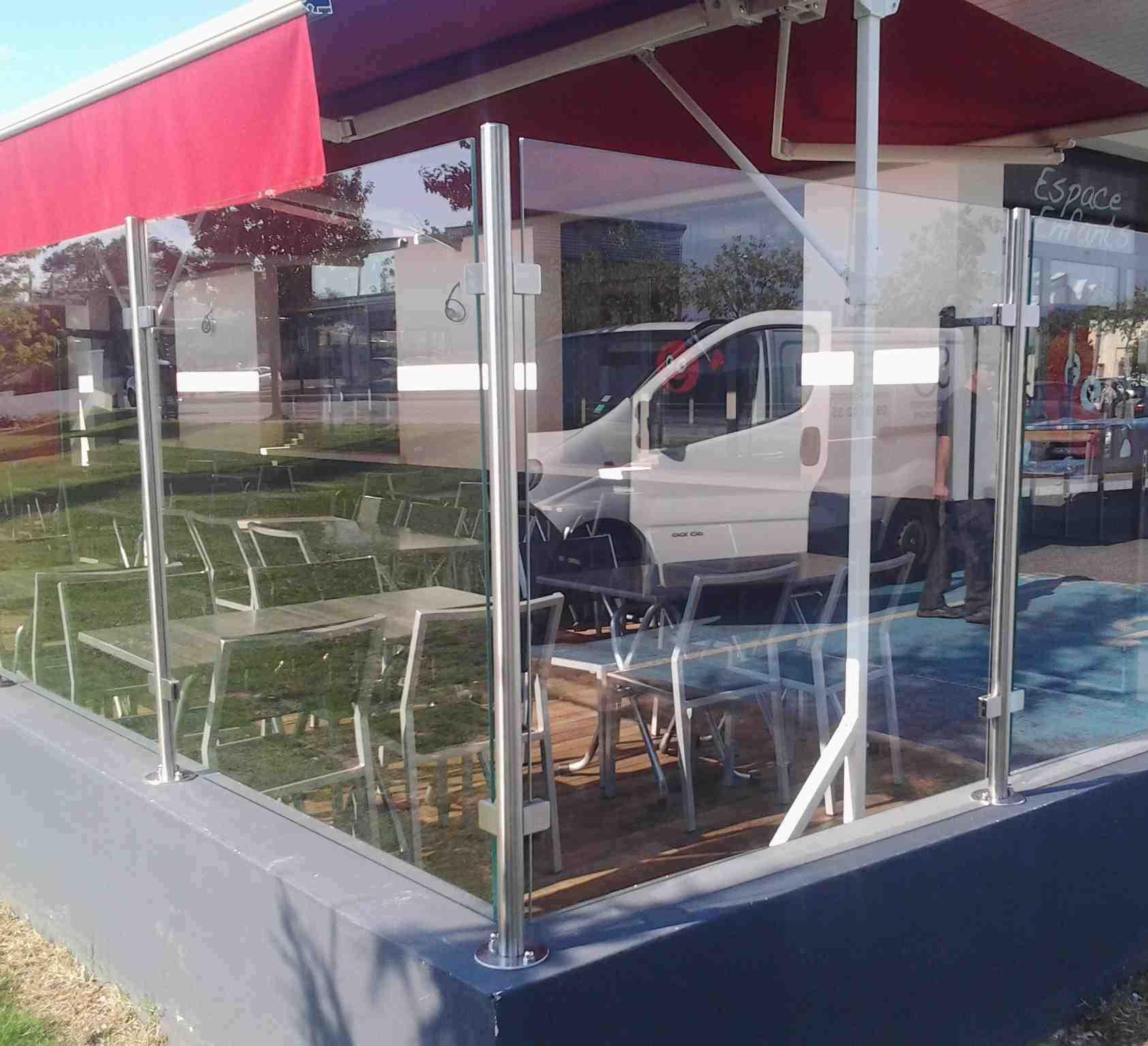 Brise Vue En Verre Pour Terrasse en ce qui concerne installation de brises-vue et claustras en drôme ardèche- sg concept