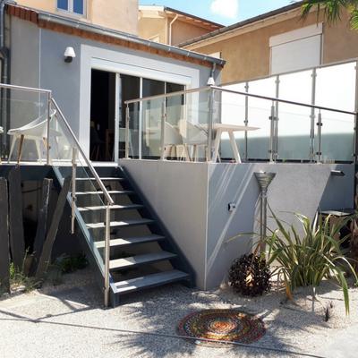Escalier extérieur en aluminium - Drôme
