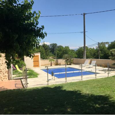Barrière de piscine en inox brossé et verre - Valence