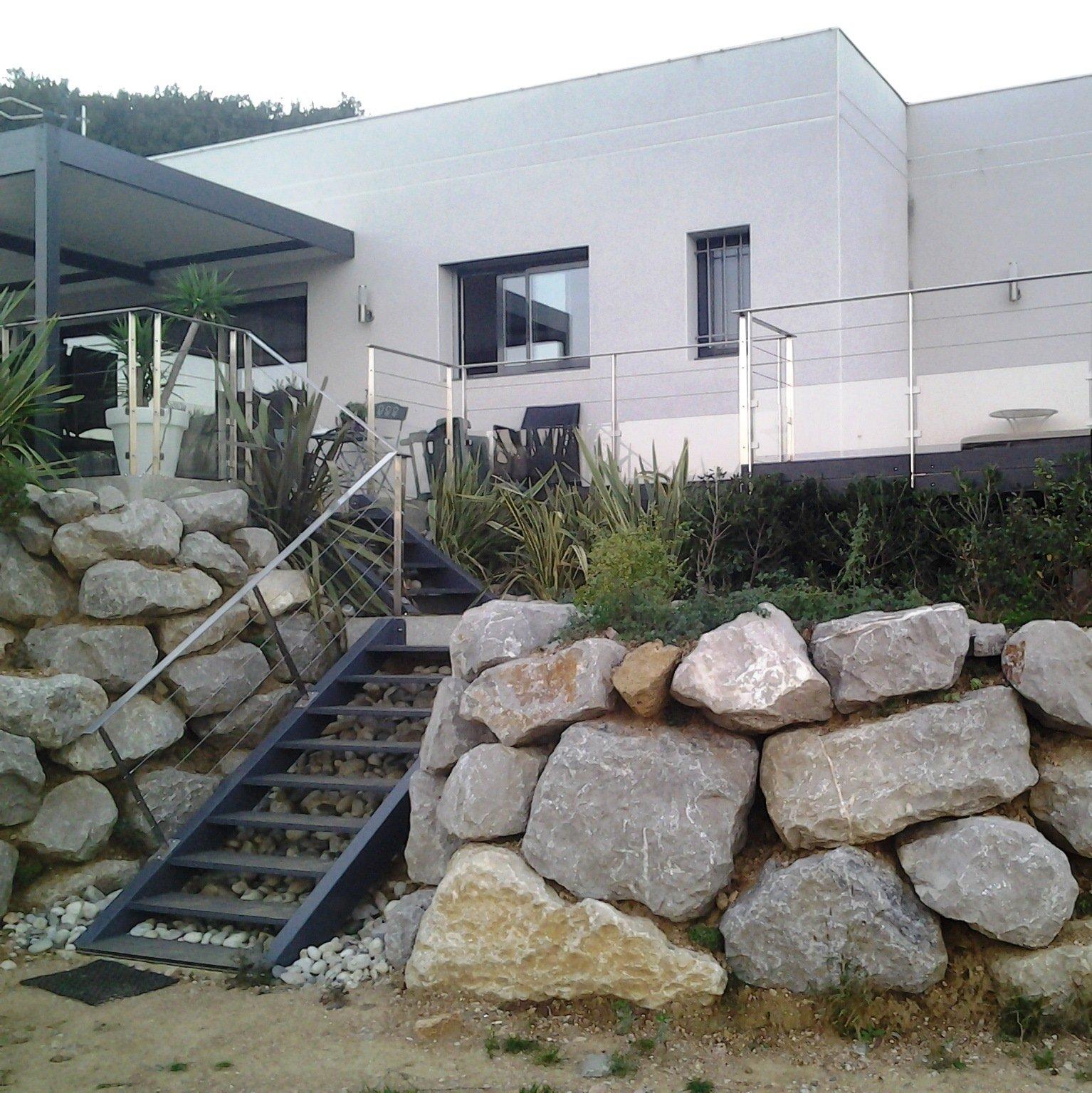 Terrasse sur pilotis - Structure aluminium - Option peinture Qualicoat