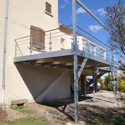 Terrasse en aluminium - Drôme