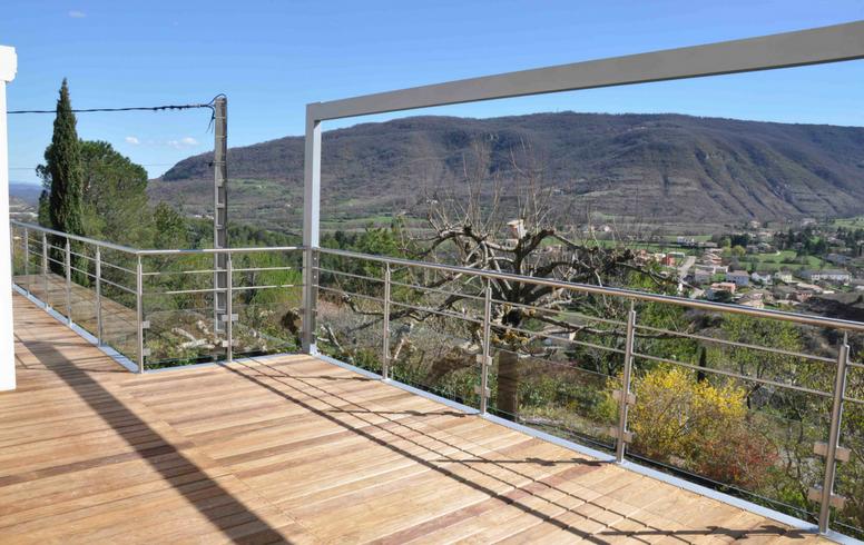 terrasse bois avec garde corps. Black Bedroom Furniture Sets. Home Design Ideas