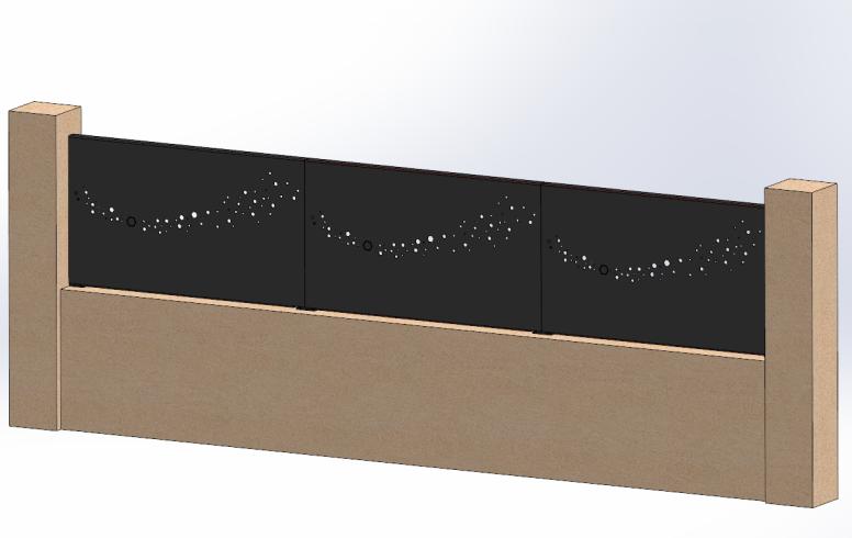 brise vue aluminium octogone ral 7016 sg concept. Black Bedroom Furniture Sets. Home Design Ideas
