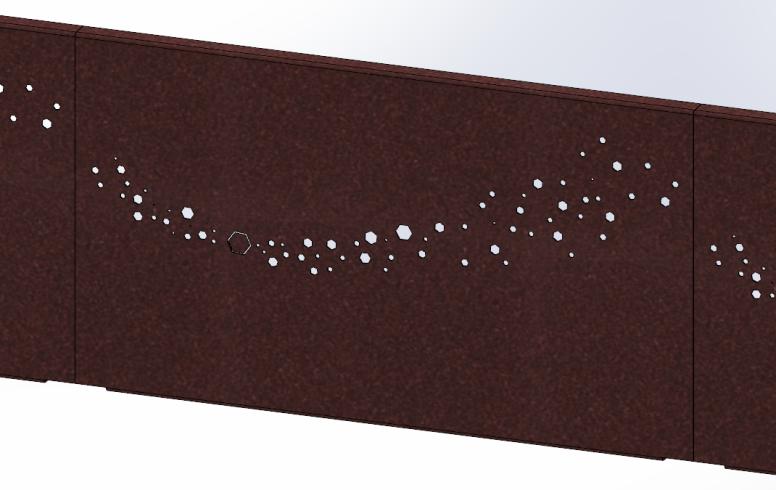 brise vue aluminium octogone imitation rouille sg concept. Black Bedroom Furniture Sets. Home Design Ideas