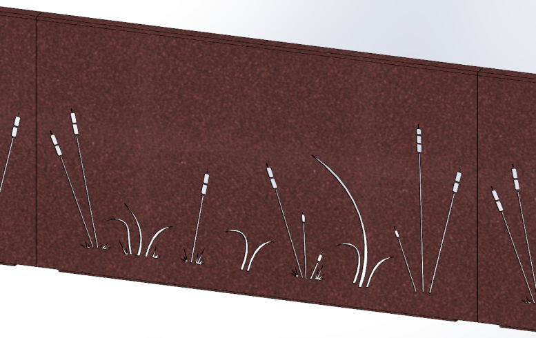 brise vue aluminium roseaux imitation rouille sg concept. Black Bedroom Furniture Sets. Home Design Ideas