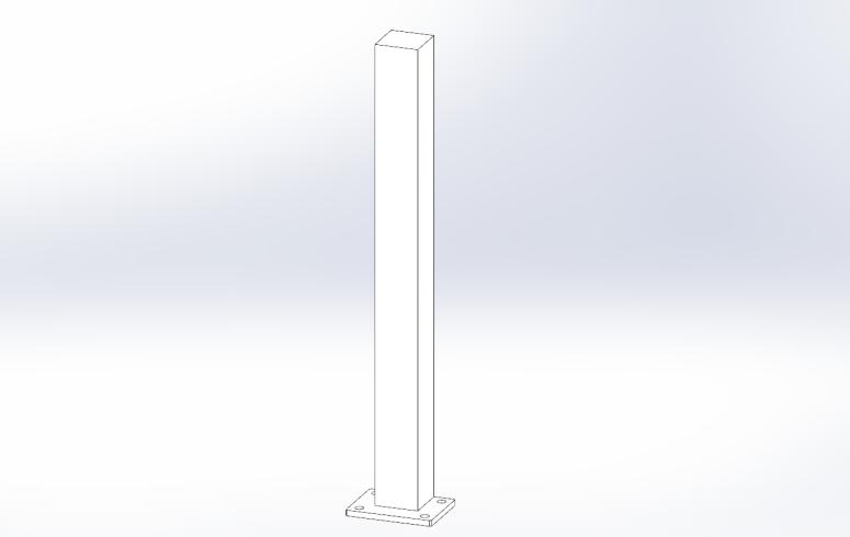 poteau pour brise vue aluminium ral 9016 sg concept. Black Bedroom Furniture Sets. Home Design Ideas