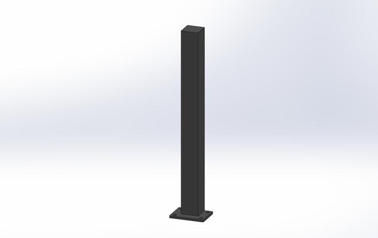poteau pour brise vue aluminium ral 7016 sg concept. Black Bedroom Furniture Sets. Home Design Ideas